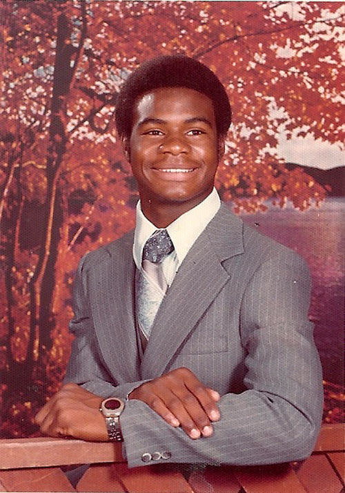 Dave Duerson's high school portrait.