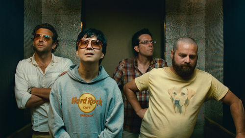 Bradley Cooper (left), Ken Jeong, Ed Helms, and Zach Galifianakis in The Hangover Part II