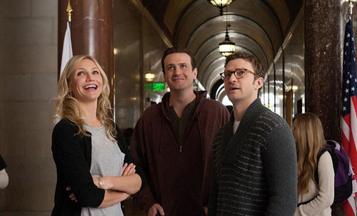 Cameron Diaz, Jason Segel, and Justin Timberlake in Bad Teacher.