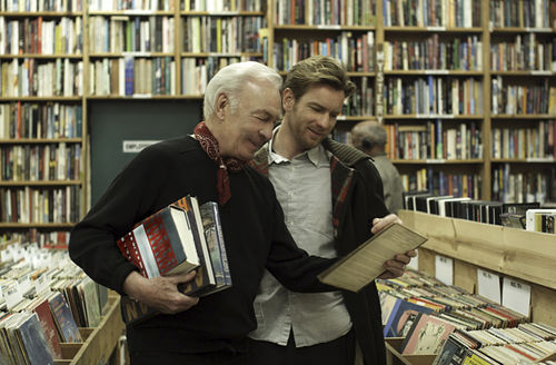 Christopher Plummer and Ewan McGregor as father and son in Beginners.