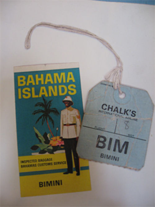 Baggage tags from Bimini