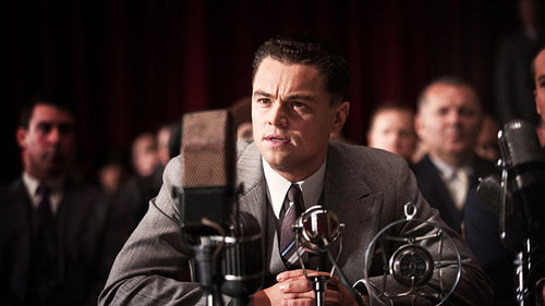 Leonardo DiCaprio as J. Edgar Hoover in Clint Eastwood's J. Edgar.