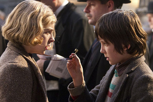 Chloë Grace Moretz and Asa Butterfield in Hugo.