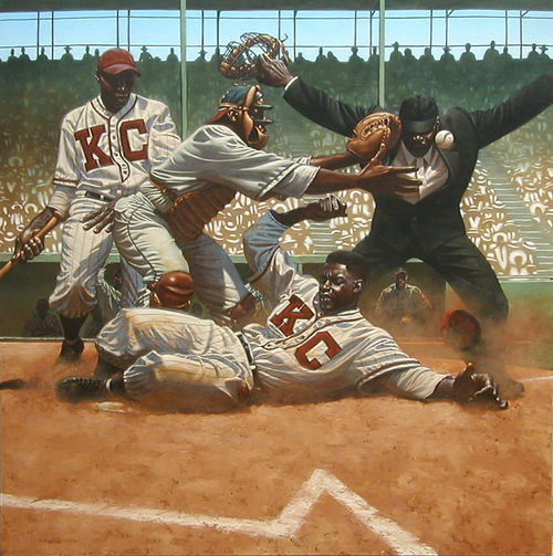 "From Kadir Nelson's ""We Are the Ship: The Story of Negro League Baseball """