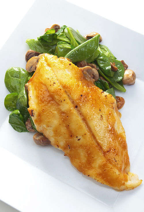 Crazy About You's miso-glazed orange roughy. View more photos.