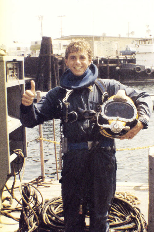 "A teenage Patrick Lahey in dive school. ""I fucking ate it up,"" he says of the work."