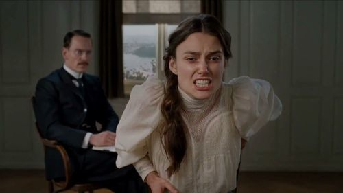 Michael Fassbender and Keira Knightley in A Dangerous Method.