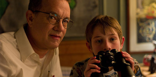 Tom Hanks and Thomas Horn in Extremely Loud and Incredibly Close.