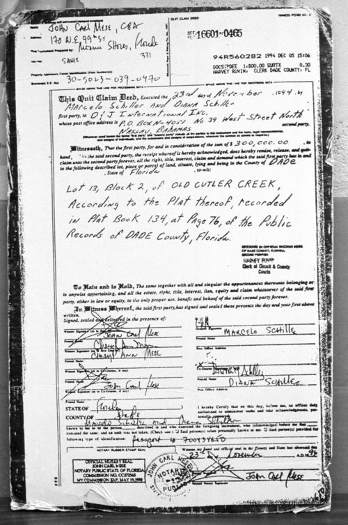 The deed to Schiller's home