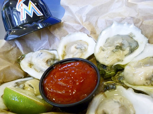 Don Camaron's fresh oysters at the park's Taste of Miami area.