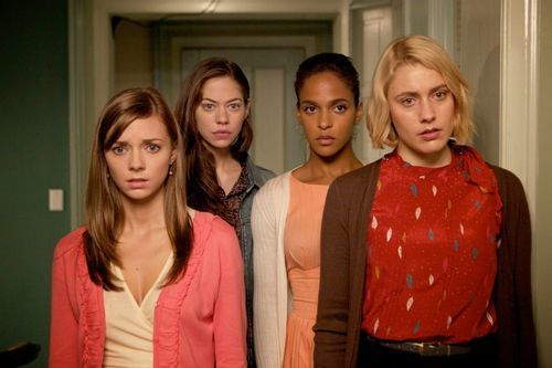 Carrie MacLemore, Analeigh Tipton, Megalyn Echikunwoke, and Greta Gerwig