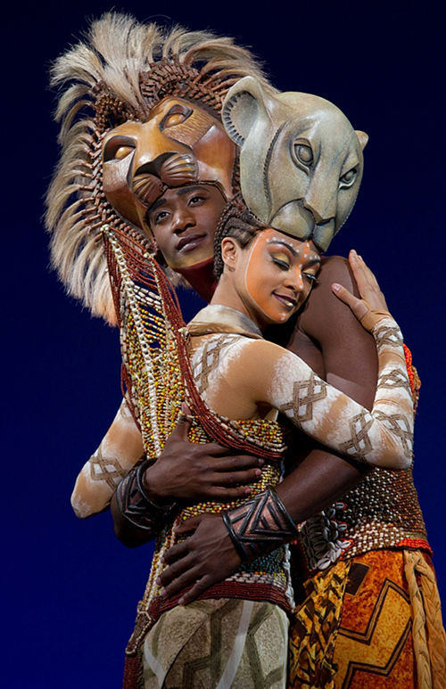 Syndee Williams as Nala and Jelani Remy as Simba.
