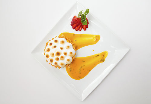 Passionfruit tartlet. View more photos of Jean Paul's House.