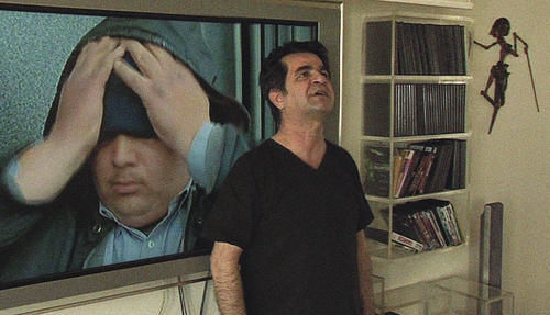 Jafar Panahi, not working on a film.