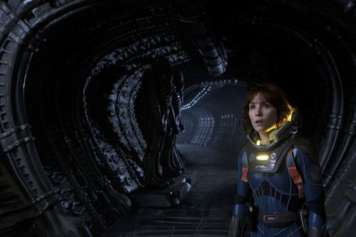Noomi Rapace in space.