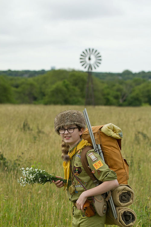 Jared Gilman as Sam in Wes Anderson's Moonrise Kingdom.