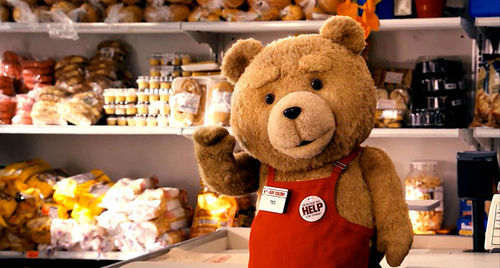 Filthy talk and racist jokes from a plushie in Seth MacFarlane's Ted.