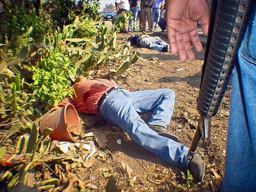 A crime scene in Veracruz.