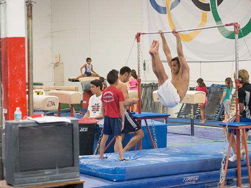 Leyva practicing at Universal Gymnastics in Miami.