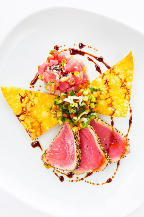 Yellowfin tuna two ways.