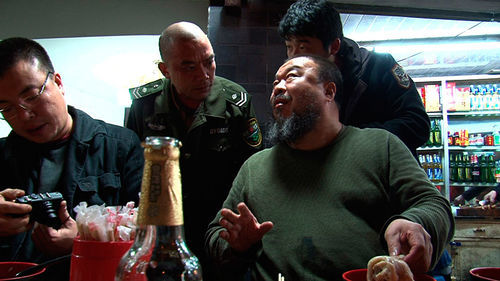 Ai Weiwei (right) in Alison Klayman's film about the controversial artist.