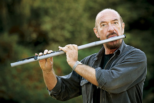 Jethro Tull's Ian Anderson goes Thick as a Brick on the flute.