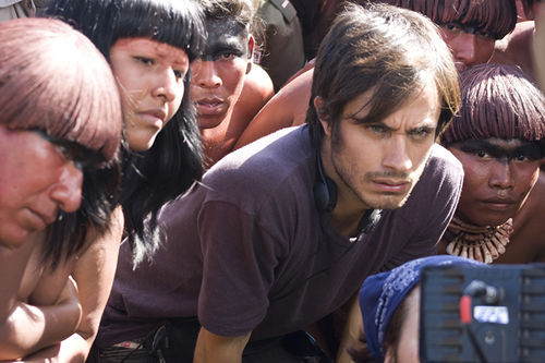 Gael Garcia Bernal as Sebastian in Even the Rain.