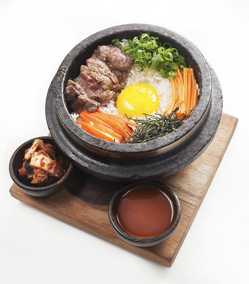 "Bibimbap with Kobe beef. See also: Slide show: ""Closer Look: Bloom."""