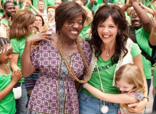 Viola Davis and Maggie Gyllenhaal, and Alyn Lind