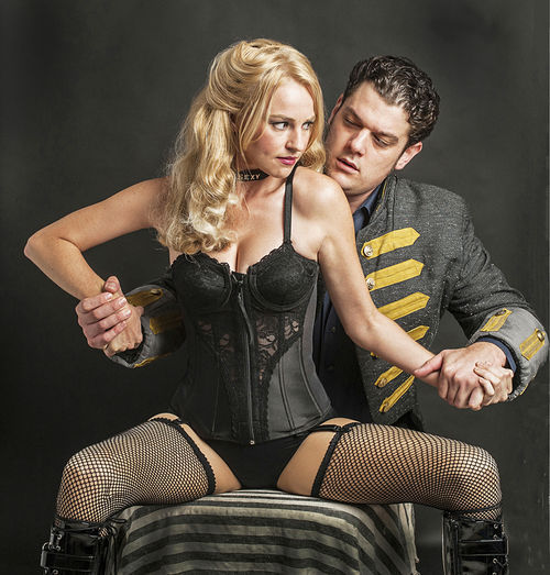 Betsy Graver and Matthew William Chizever in GableStage's production of Venus in Fur.