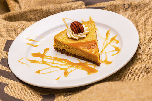 Acme's pumpkin cheesecake: Fresh, moist, and tender.