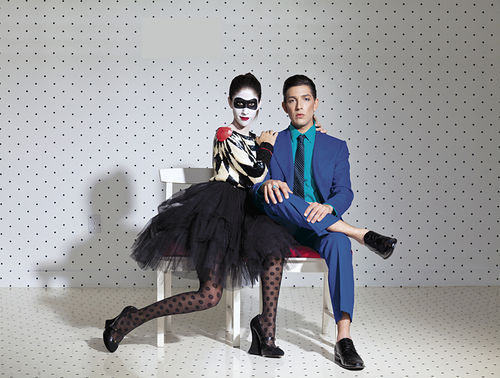 "Agustina Woodgate and Anthony Spinello. Inspired by Annie Lennox and David Bowie's performance of Queen's ""Under Pressure""."
