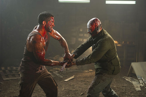 Scott Adkins and Jean-Claude Van Damme in Universal Soldier: Day of Reckoning.