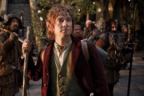 Martin Freeman as Bilbo Baggins.