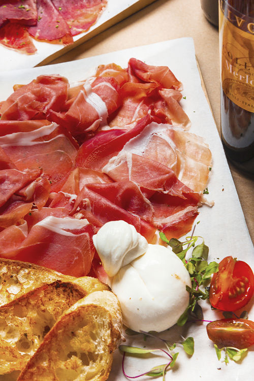 Burrata with prosciutto crudo di San Danieli