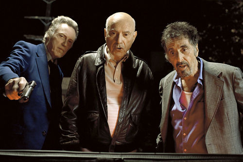 Walken (the only one here in control of what makes him funny) with Arkin and Pacino.
