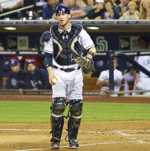 Padres catcher Yasmani Grandal was suspended last year for violating baseball's doping rules.
