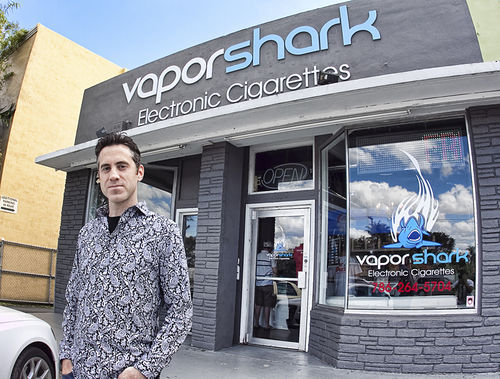 Brandon Leidel launched Vapor Shark online in 2010 and moved into a storefront in March 2012.