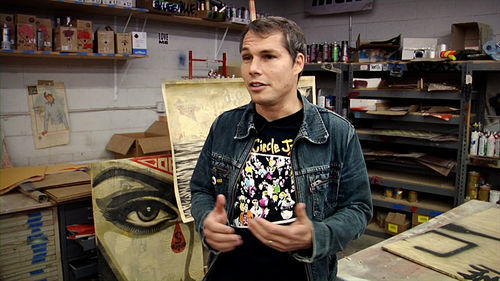 Shepard Fairey in Let Fury Have the Hour.
