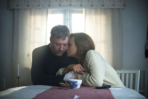 Mikael Persbrandt and Lena Olin in The Hypnotist.