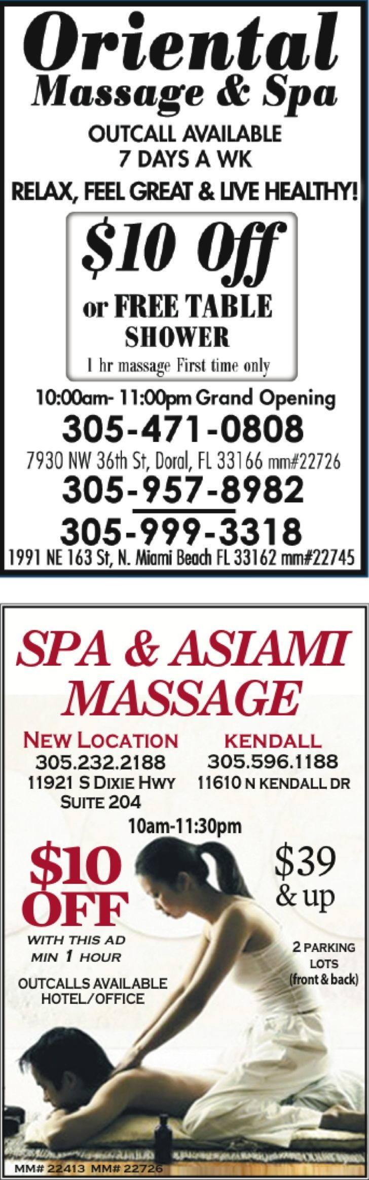 Oriental Massage Parlor
