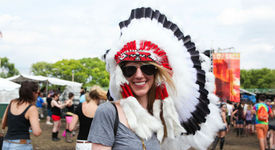 40 Ridiculous People in Headdresses at Music Festivals