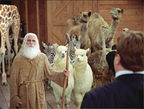 Steve Carell in Evan Almighty: Apparently Gandalf  was booked