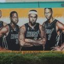 Midtown Heat Mural Defaced