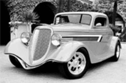 This 1934 Ford three-window coupe is actually a faux classic built from a Street Beasts kit