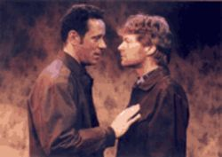 Gil (Michael MacCauley) tries for some real love from Ray (Joseph Adams), but no go