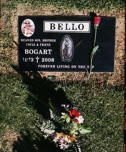 Bogart Bello's gravestone overlooks his old gang's East L.A. territory.