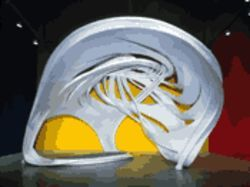 Stella&#039;s scale-model design for the bayfront bandshell
