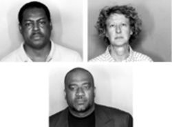 MIA corruption defendants (clockwise from top left): Antonio Junior,  Patricia Nichols, and Evens Thermilus