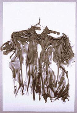 "David Baskin's Untitled Drawing (Shirt), part of ""Drawing Conclusions"""